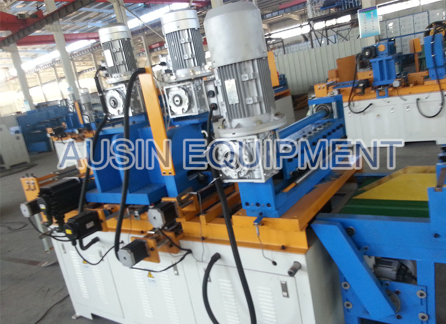 Multi-holing transformer core cutting machine