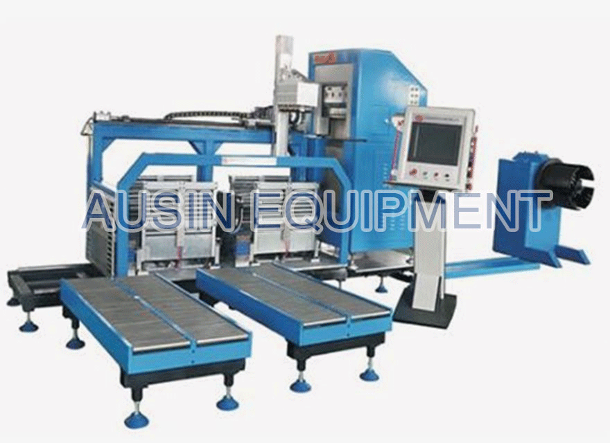 Distributed gap wound core forming machine
